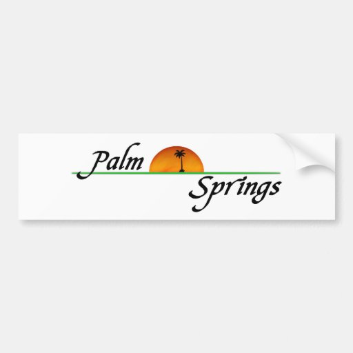 Palm Springs Car Bumper Sticker