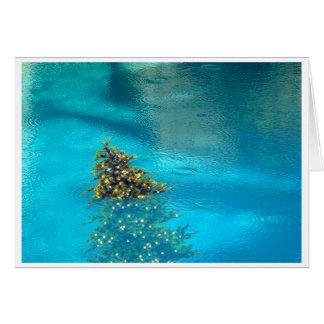 Palm Springs Christmas Tree in Pool Card