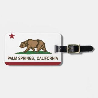Palm Springs de la bandera del estado de Californi Etiquetas De Maletas