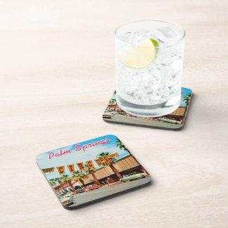 Palm Springs del vintage, California Posavasos De Bebidas