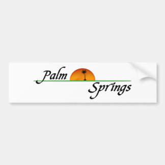 Palm Springs Etiqueta De Parachoque