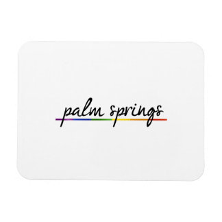 PALM SPRINGS GAY PRIDE -.png Vinyl Magnet