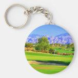 Palm Springs Golf.JPG Basic Round Button Keychain