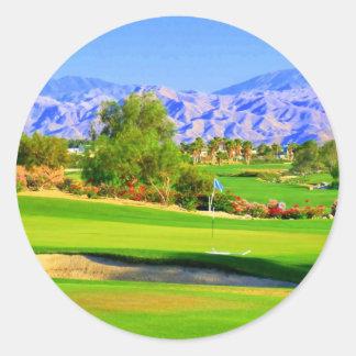 Palm Springs Golf.JPG Round Sticker