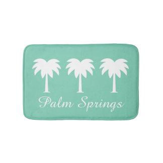 Palm Springs green palm tree non slip bath mat rug
