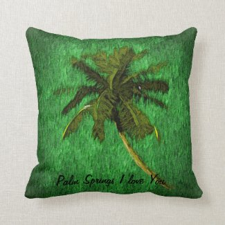 Palm Springs I love you-Beautiful Throw Pillow- Throw Pillow
