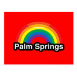 PALM SPRINGS LGBT PRIDE RAINBOW POST CARDS