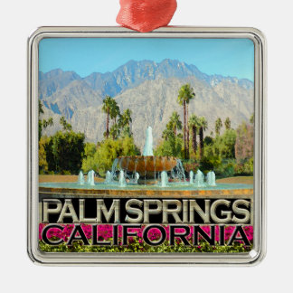 Palm Springs Metal Ornament