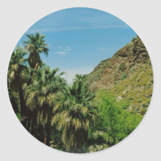 Palm Springs Scene Round Stickers
