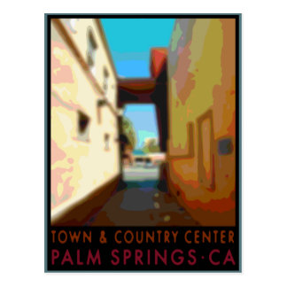 Palm Springs Town & Country Center Postcard
