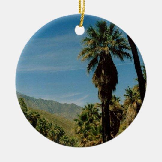 Palm Springs View Ceramic Ornament