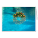 Palm Springs Wreath in Pool Holiday Card