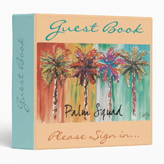 Palm Squad Guest Book Binder