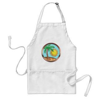 Palm, Sun and Island Adult Apron