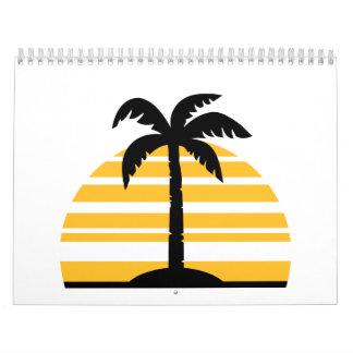 Palm sun island calendar