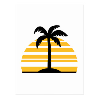 Palm sun island post card