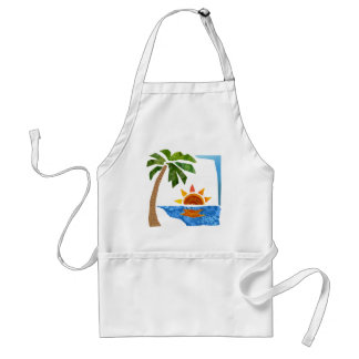 Palm, Sun & Sea Adult Apron