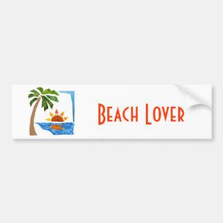 Palm, Sun & Sea Bumper Sticker