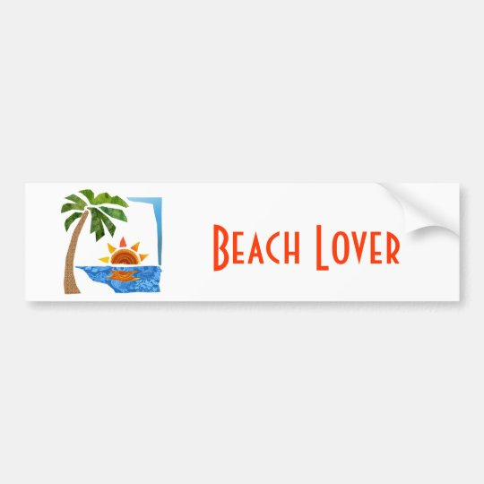Palm, Sun & Sea Bumper Sticker