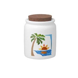 Palm, Sun & Sea Candy Jar