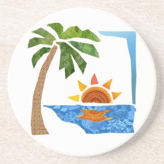 Palm, Sun & Sea Beverage Coaster