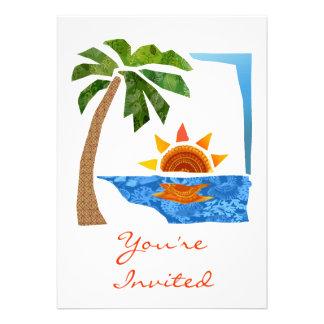 Palm Sun Sea Personalized Announcements