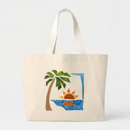 Palm, Sun & Sea Tote Bag