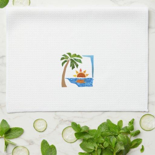 Palm, Sun & Sea Towel