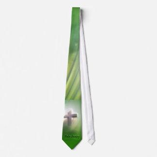 Palm Sunday Cross on Emerald Green Tie