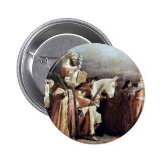 Palm Sunday In Moscow At The Time Of Tsar Alexei Pinback Button