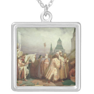 Palm Sunday Procession Silver Plated Necklace
