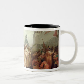 Palm Sunday Procession Two-Tone Coffee Mug