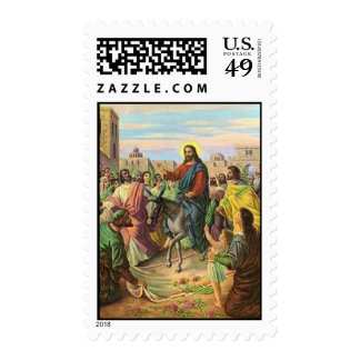 Palm Sunday(Vintage Painting) Postage Stamps