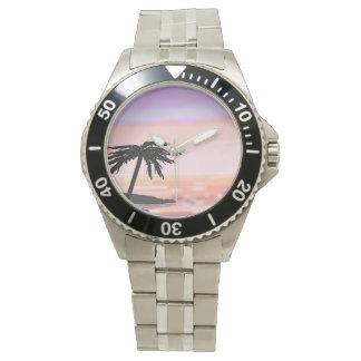 Palm Sunset Customizable wrist watch