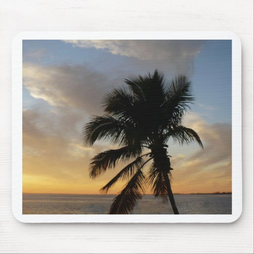 Palm sunset mouse pad