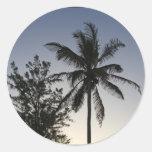 Palm Sunset Round Sticker