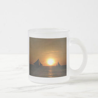 Palm Sunset Tropical Paradise Water Beach Destiny Coffee Mug
