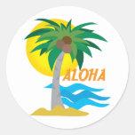 Palm Tree 1 Classic Round Sticker
