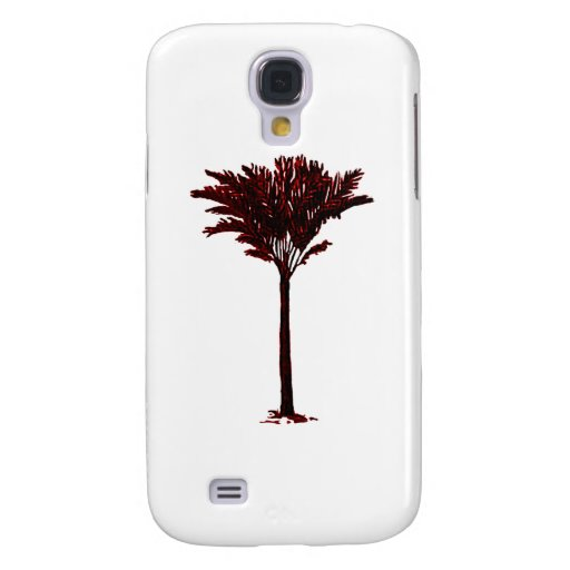 Palm Tree 2 Red The MUSEUM Zazzle Gifts Samsung Galaxy S4 Cases