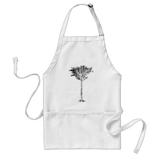 Palm Tree 2 White The MUSEUM Zazzle Gifts Adult Apron