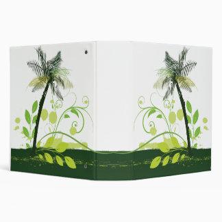 Palm Tree Abstract Binder Vinyl Binder