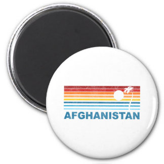 Palm Tree Afghanistan 2 Inch Round Magnet
