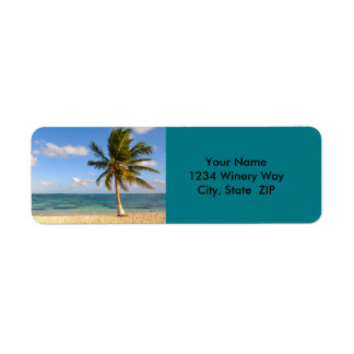 Palm Tree and Beach Label