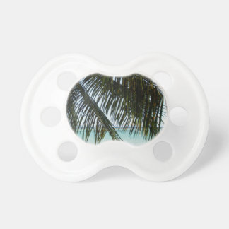 palm tree and beach BooginHead pacifier