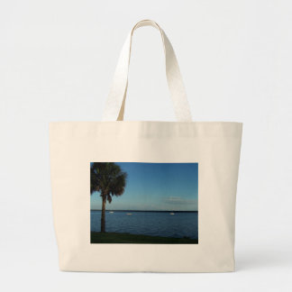 Palm Tree and Boats Canvas Bag