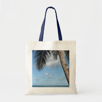 Palm Tree and Caribbean Sea Tote Bag