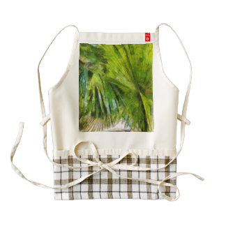 Palm tree and houses zazzle HEART apron
