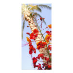 Palm Tree and Red Flower Custom Rack Cards