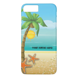 Palm tree and starfish tropical scenery iPhone 8 plus/7 plus case