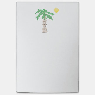 Palm Tree and Sun Cartoon Post-it Notes